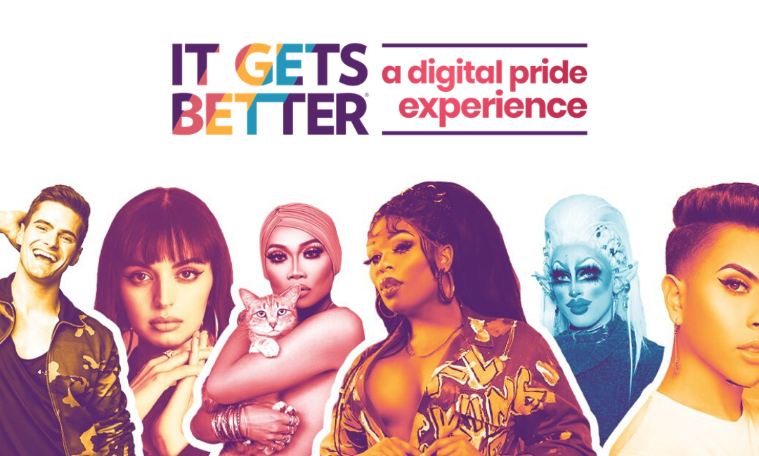 It Gets Better Project announces three-day virtual pride event.