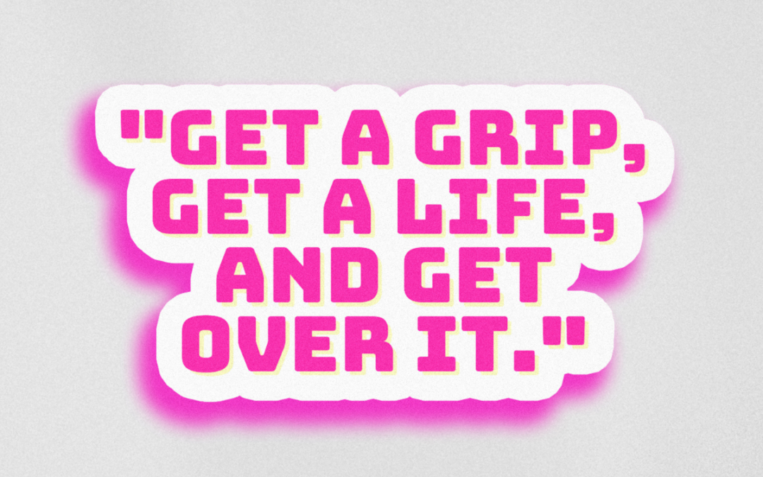 "Alyssa Edwards Sticker ""Get Over It"""